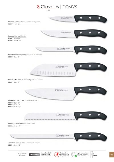 professional knives KITCHEN KNIVES DOMWS