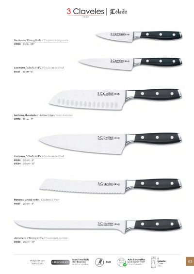 professional knives KITCHEN KNIVES TOLEDO