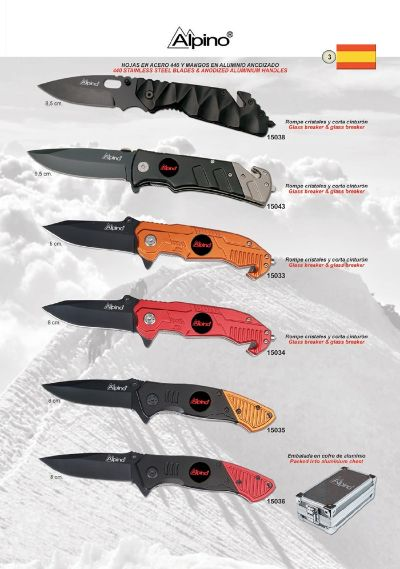 pocketknives military POCKET KNIVES ALPINO ANODIZED ALUMINUM