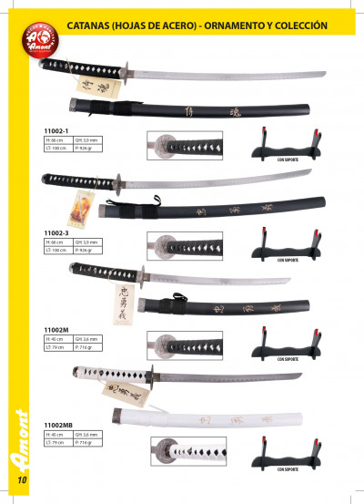 swords KATANAS OF COLLECTION