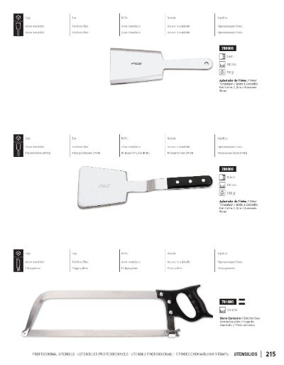 professional knives PROFESSIONAL KITCHEN UTENSILS