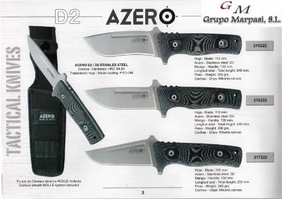 hunting knives artisans TACTICAL KNIVES AZERO MICARTA