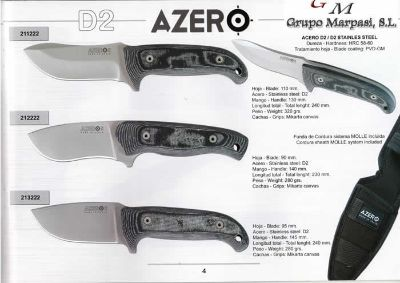 hunting knives artisans TACTICAL KNIVES AZERO D2