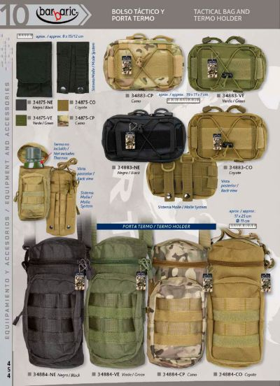 camping and survival TACTICAL BAG AND TERMO HOLDER