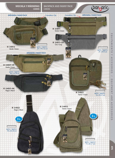 camping and survival BACKPACKS AND FANNY PACK BARBARIC