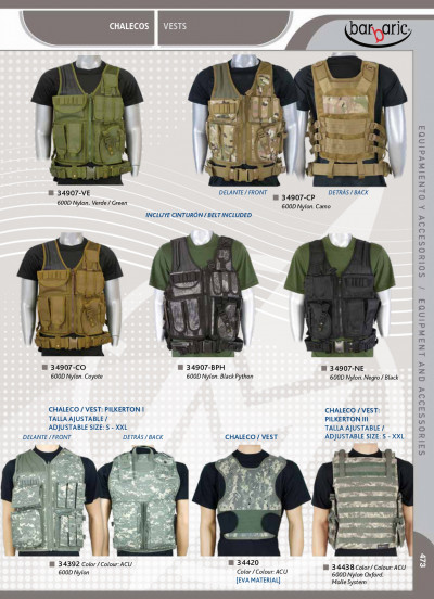 objects personal clothing TACTICAL EQUIPMENT BARBARIC