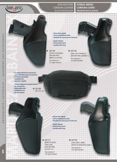 arms GUN HOLSTERS CORDURA-LEATHER