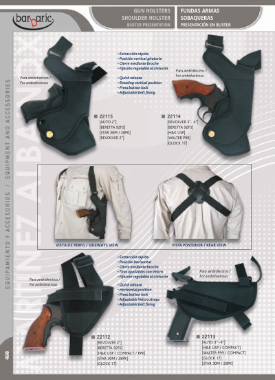 arms SHOULDER GUN HOLSTERS