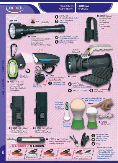 camping and survival FLASHLIGHTS HEADLIGHTS AND SHEATHS