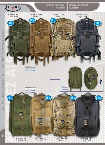 camping and survival USB BACKPACK AND HIDRATION PACK