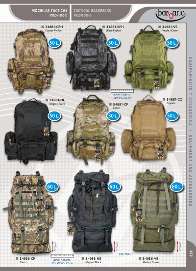 camping and survival TACTICAL BACKPACK BARBARIC