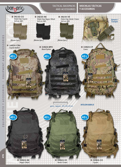 camping and survival TACTICAL BACKPACKS WITH COLOURS