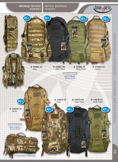 camping and survival ASSORTED TACTICAL BACKPACKS