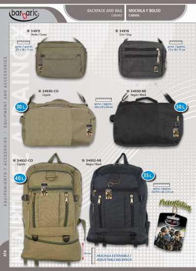 camping and survival BACKPACKS AND BAGS