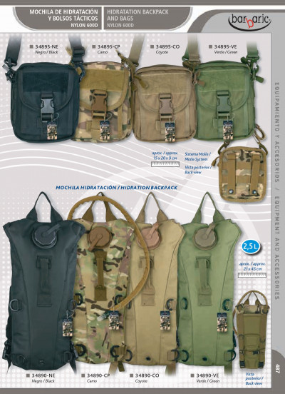 camping and survival HYDRATION PACK AND BAGS
