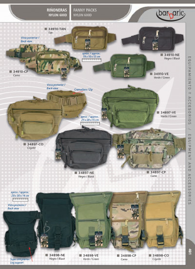 camping and survival ASSORTED FANNY PACKS