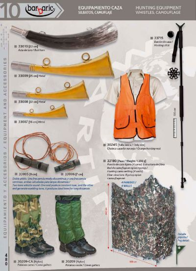 chasse et d'observation accessoires SIFFLETS ET CAMOUFLAGE BARBARIC