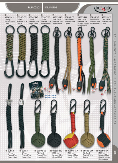 camping and survival ASSORTED PARACORDS