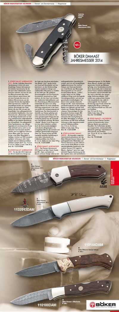 couteaux-navajas chasse DAMAS BOKER