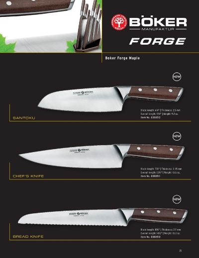 professional knives BOKER FORGE WOOD