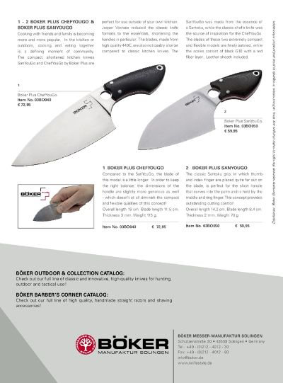 professional knives BOKER KNIFE TO GO