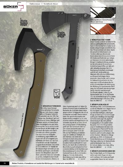 hunter messer achsen AXTE OUTDOOR BOKER