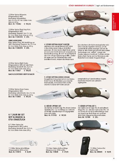 couteaux-navajas chasse COUTEAUX BOKER OPTIMA