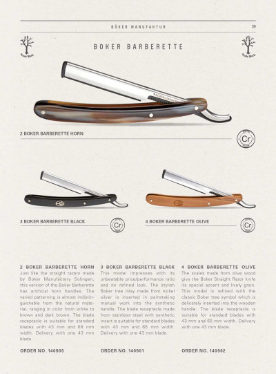 pocketknives shave RAZORS BARBERETTE