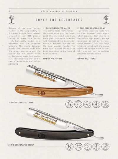 pocketknives shave RAZOR BOKER THE CELEBRATED