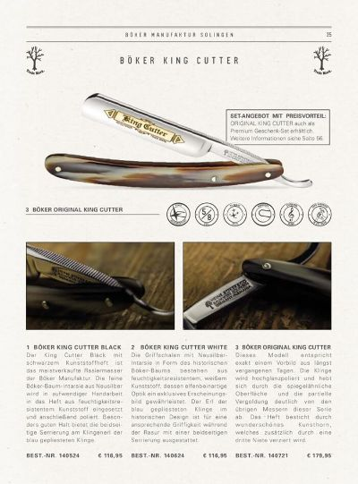 pocketknives shave RAZOR KING CUTTER ORIGINAL