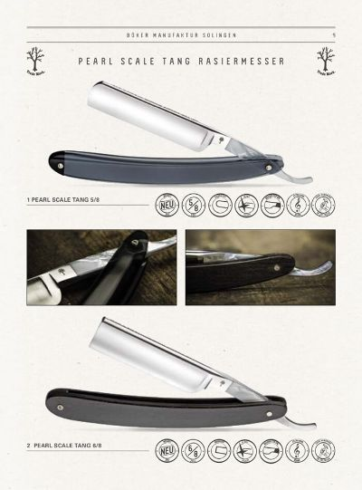 pocketknives shave RAZOR PEARL SCALE TANG