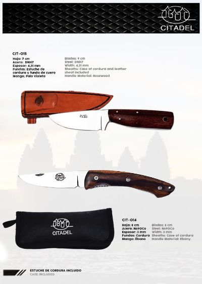 hunting knives mountain knives KAMPOT TROYENG AND TRONDHEIM