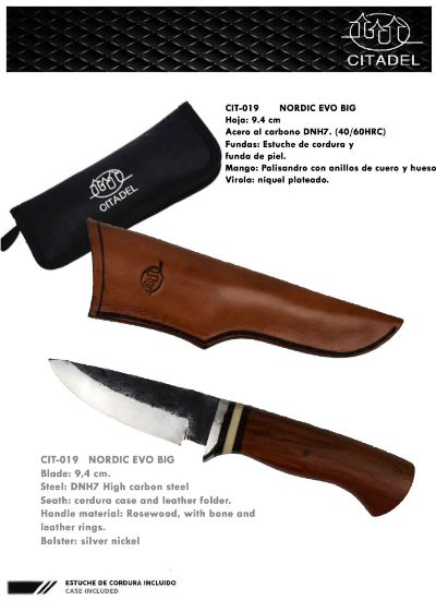 hunting knives artisans NORDIC EVO BIG
