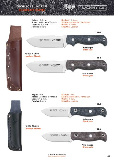 tactical knives BUSHCRAFT SANABRIA