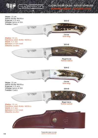 hunting knives SELOUS AND AKELEY HUNTING KNIVES