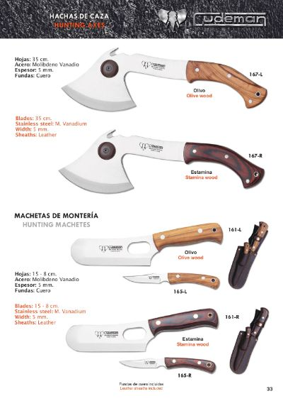 hunting knives axes MOUNTAIN AXES