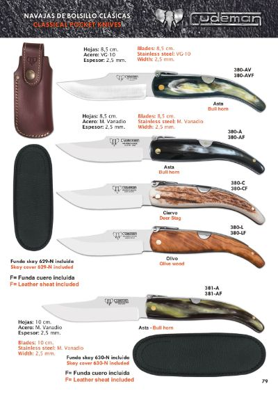 pocketknives classic spain albaceteÑas CLASSICAL KNIVES