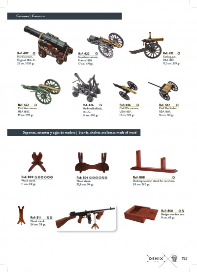 arms antique replicas CANNONS AND SUPPORTS
