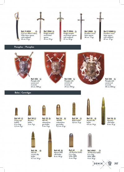 arms antique replicas PANOPLY AND BULLETS