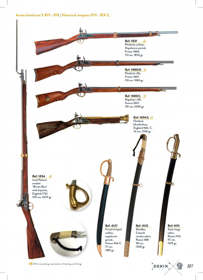 arms antique replicas RIFLES AND SABERS