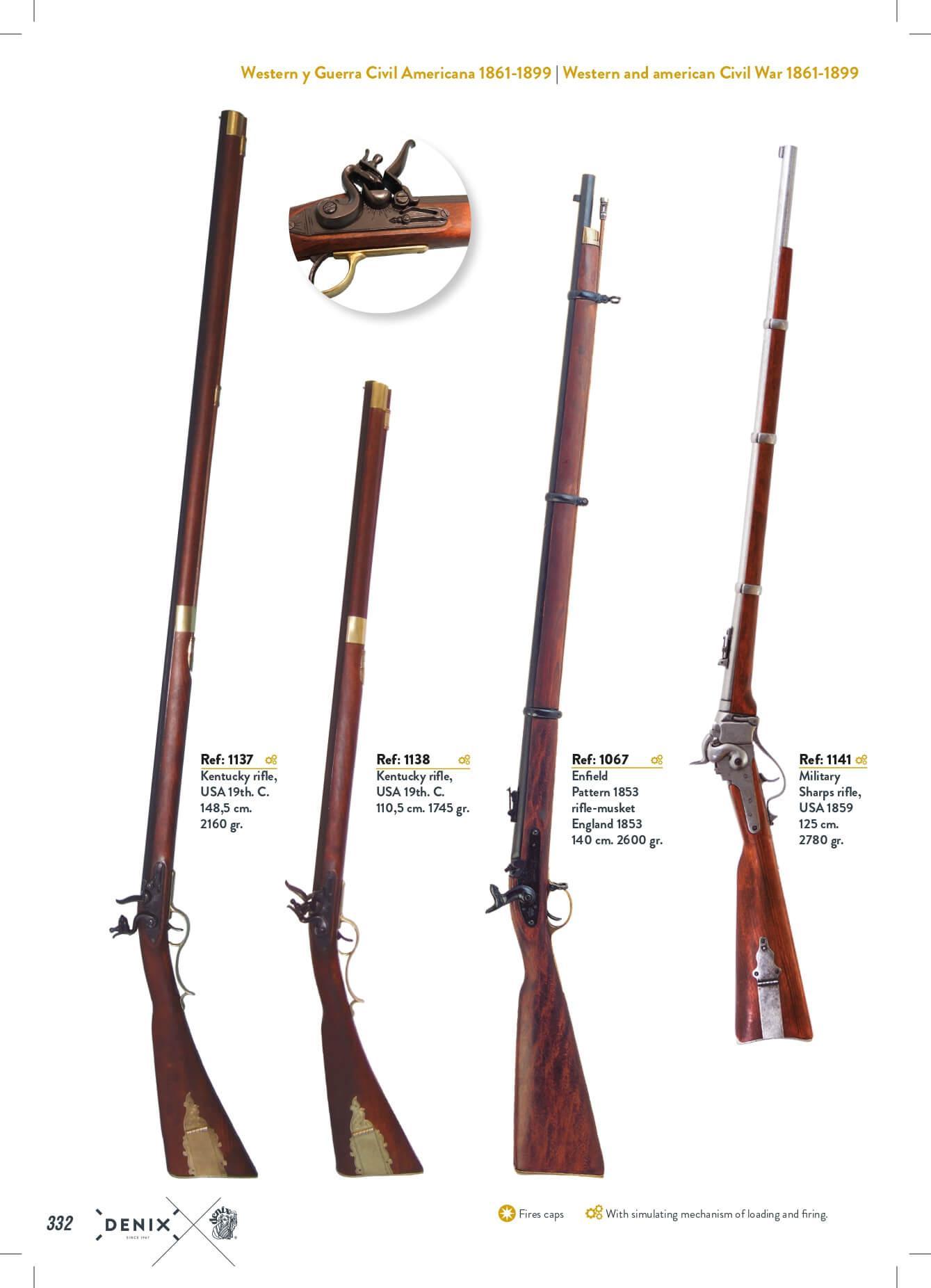 armes repliques antiques - fusils - denix