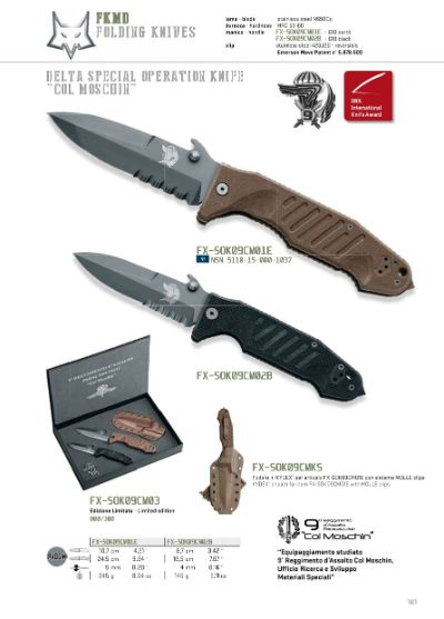 pocketknives military COL MOSCHIN POCKETKNIFE MILITARY