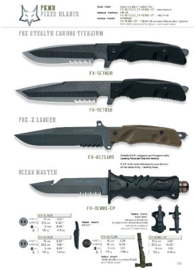 hunting knives FOX STEALTH KNIVES MILITARY