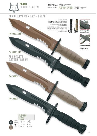 hunting knives OPLITA KNIFE MILITARY