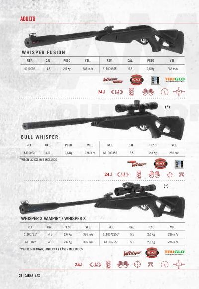 arms air rifles CARBINES WHISPER