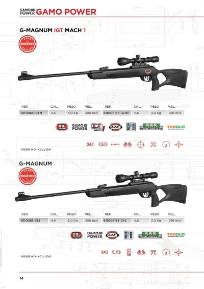 arms air rifles CARBINES GAMO POWER