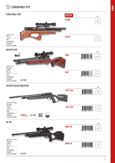 arms air rifles CARBINES PCP COYOTE