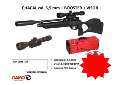 airsoft PACK CHACAL CON BOOSTER Y VISOR