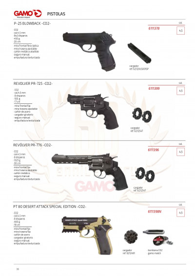 airsoft pistolets co2 CANONS DE CO2