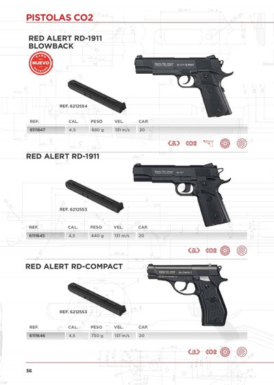 armas PISTOLAS CO2 RED ALERT
